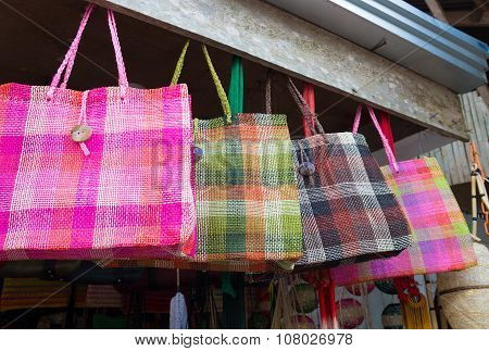 Souvenir Shop With Handmade Bags