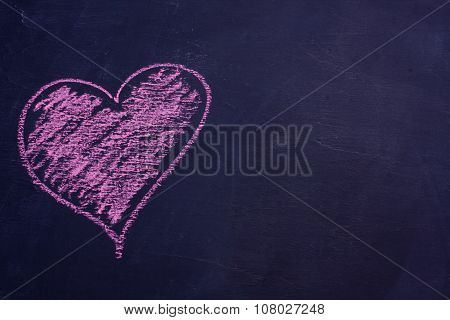 chalk drawing heart