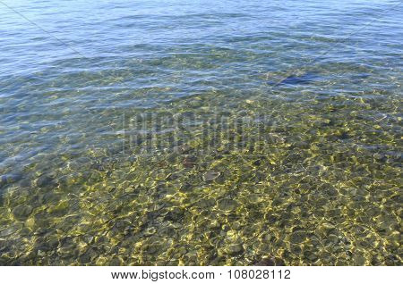 Background Of Water And Pebbles