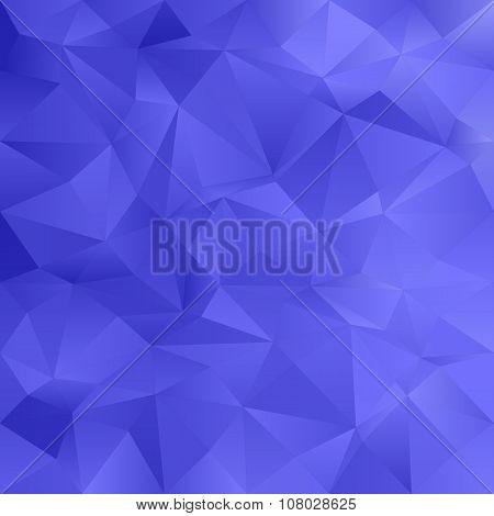 Blue irregular triangle pattern background