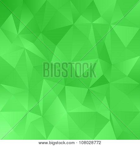 Green irregular triangle pattern background