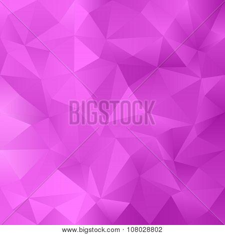 Magenta irregular triangle pattern background