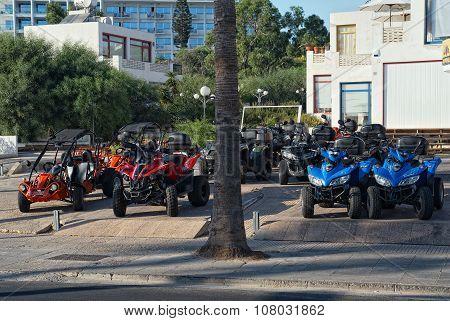 Parking quad bikes for rent