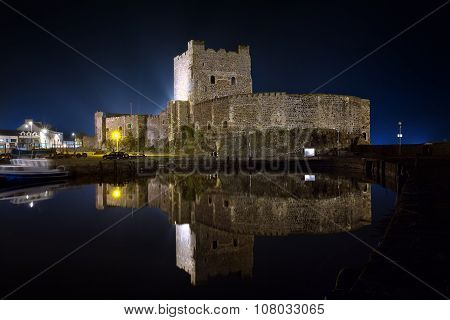 Carrickfergus Castle By Night