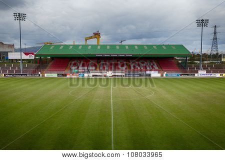 The Oval, Glentoran Stadium In Belfast, Northern Ireland