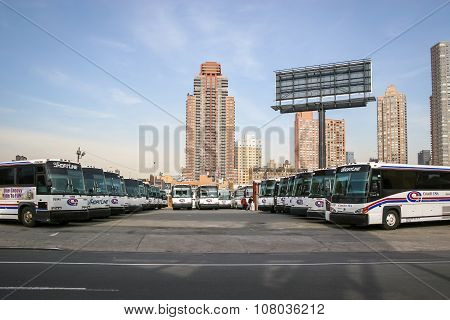 Bus Garage In Manhattan