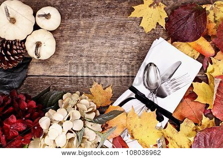 Thanksgiving Place Setting Background