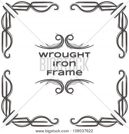 Wrought Iron Frame Six
