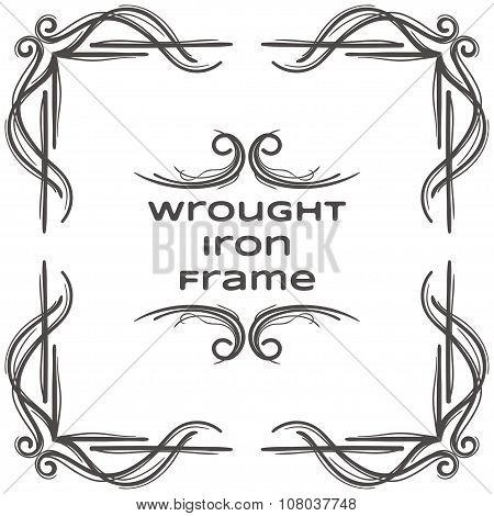 Wrought Iron Frame Eight