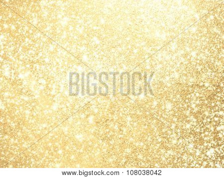 Sparkling background gold - abstract lights