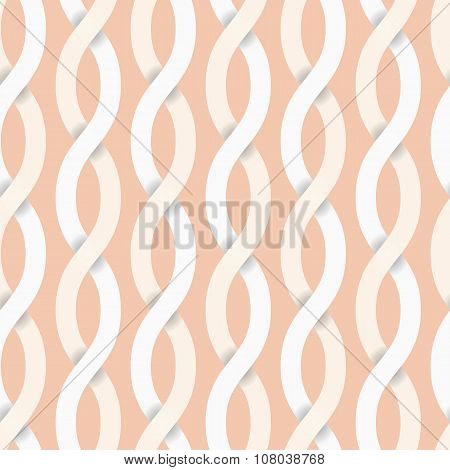 Seamless Crossed Ribbon Background