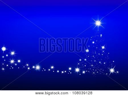Abstact Christmas Tree Background With Space For You Design.