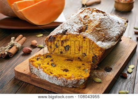 Pumpkin Bread And Ingredients
