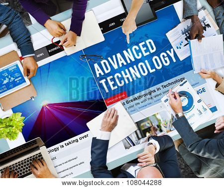 Advanced Technology Innovation Evolution Futuristic Concept