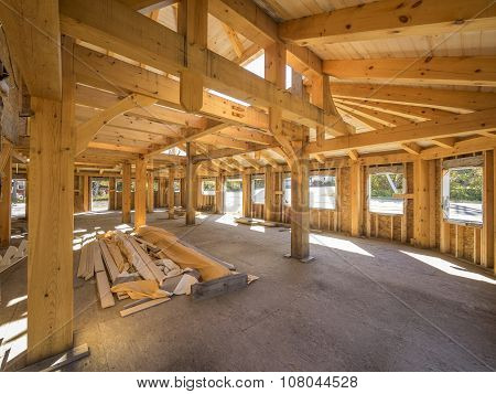 Post and beam interior construction