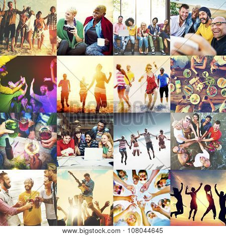 Diverse Ethnic Unity Party Togetherness Happiness Concept