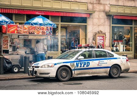 Nypd Car Parked At Grand Central Station In Manhattan New York City