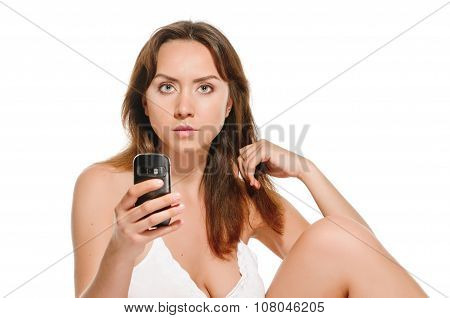 Smartphone and woman