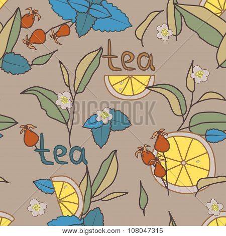 Tea Time. Seamless pattern