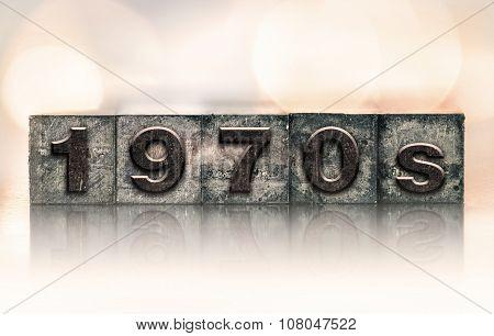 1970S Concept Vintage Letterpress Type