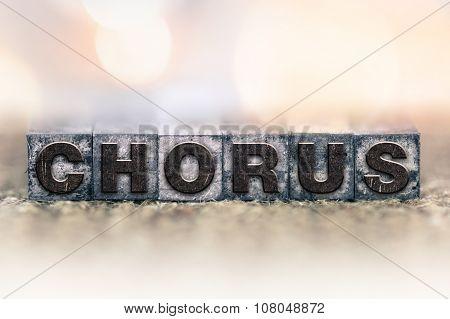 Chorus Concept Vintage Letterpress Type
