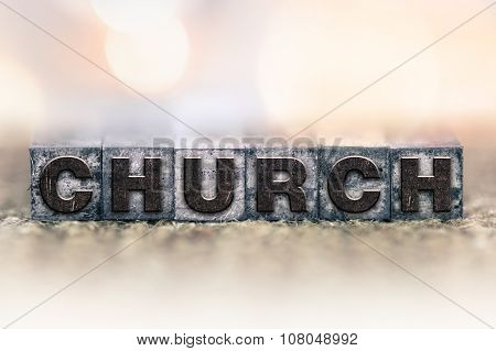 Church Concept Vintage Letterpress Type