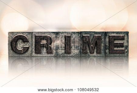 Crime Concept Vintage Letterpress Type