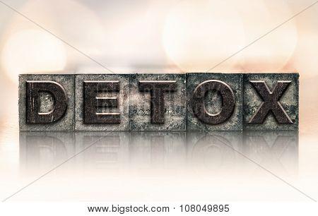 Detox Concept Vintage Letterpress Type