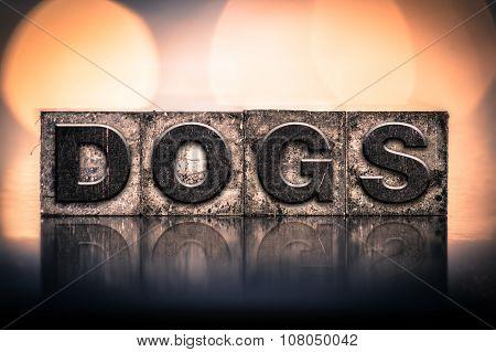 Dogs Concept Vintage Letterpress Type