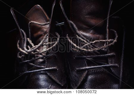 Laces Of Leather Shoes