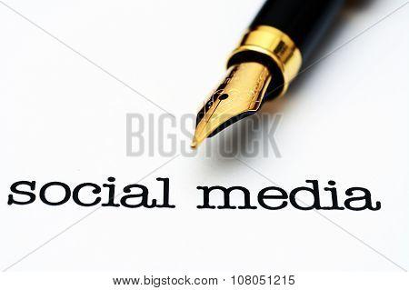 Fountain Pen On Social Media