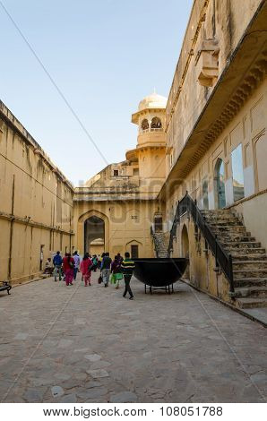 Jaipur, India - December 29, 2014: Tourist Visit Amber Fort In Jaipur