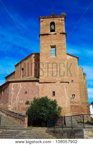 Azofra in Saint James Way at La Rioja of Spain
