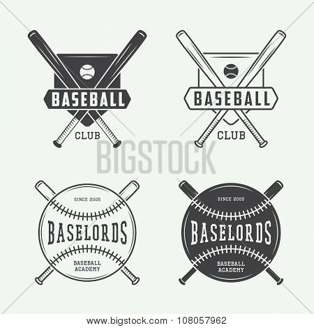 Vintage Baseball Or Sports Logo, Emblem, Badge, Label And Watermark In Retro Style.