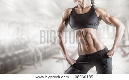 Woman's Body Bodybuilder