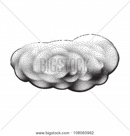 Scalable retro cloud with dotwork gradients