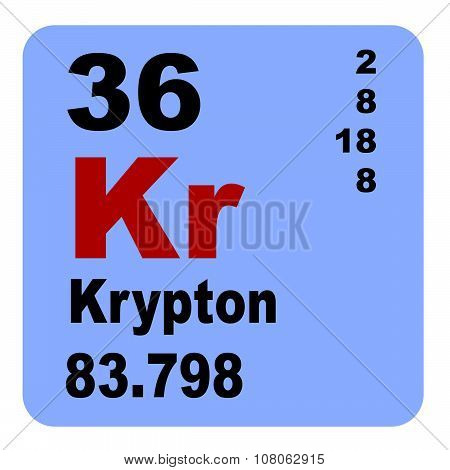Periodic Table of Elements: No. 36 Krypton