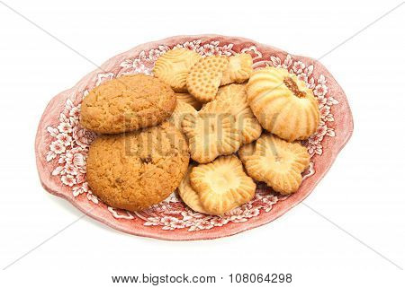 Some Different Cookies On A Plate