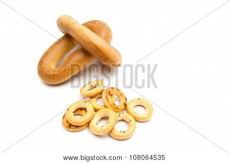 Two Heap Of Different Bagels