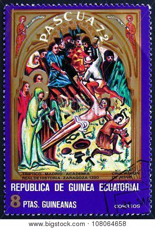 Postage Stamp Equatorial Guinea 1972 Crucifixion