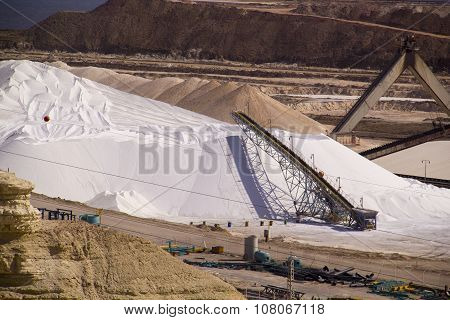 Huge Storage Of Ready Potash Before Transportation In Hemical Factory