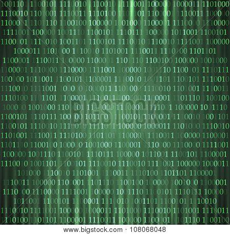 hexadecimal computer code vector background