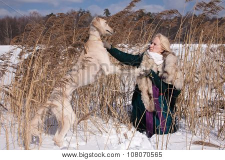 Blonde And Saluki