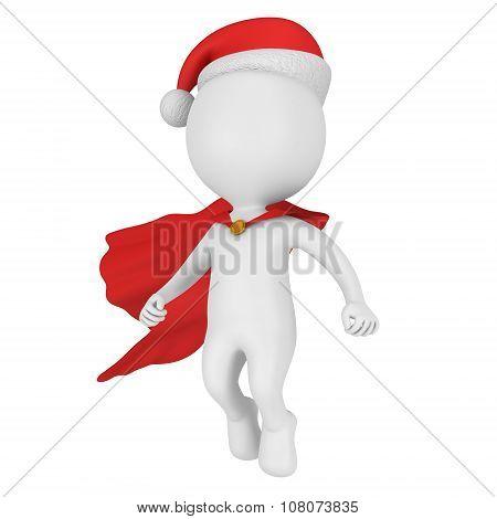 Santa Claus Brave Superhero Flying