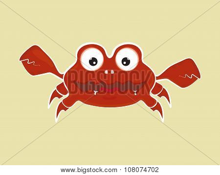 Cartoon Crab Vector Illustration