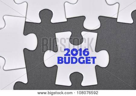 The White Jigsaw Puzzle Written Word 2016 Budget