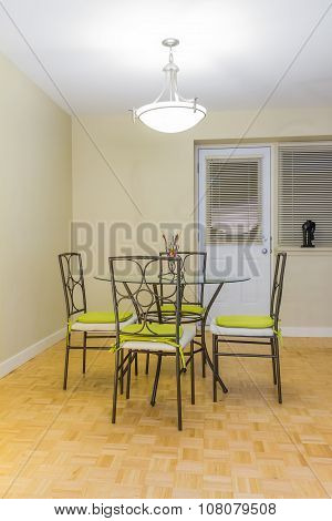 Interior design of dining room