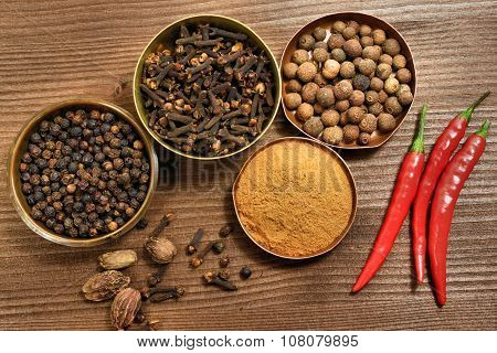 Spices Rustic Composition