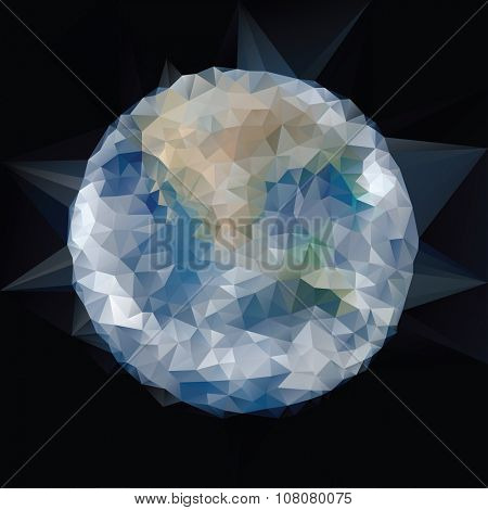 vector low poly globe