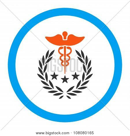 Caduceus Logo Rounded Glyph Icon